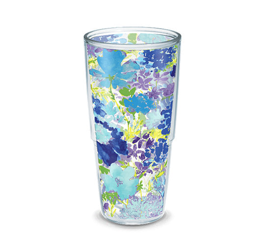 Fiesta® Purple Floral 24 oz Tumbler, Tervis Tumbler - Fiesta Factory Direct by Homer Laughlin China.  Dinnerware proudly made in the USA.