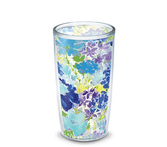 Fiesta® Purple Floral 16 oz Tumbler, Tervis Tumbler - Fiesta Factory Direct by Homer Laughlin China.  Dinnerware proudly made in the USA.