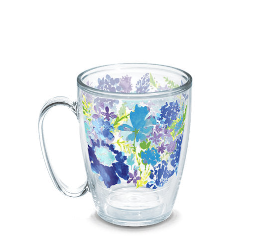 Fiesta® Purple Floral Mug, Tervis Tumbler - Fiesta Factory Direct by Homer Laughlin China.  Dinnerware proudly made in the USA.