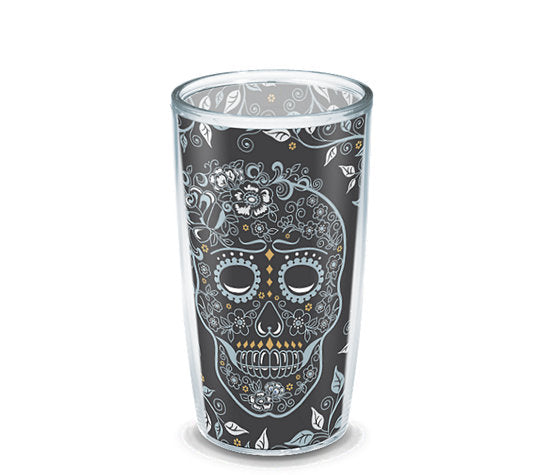 Fiesta® Skull and Vine 16 oz Tumbler, Tervis Tumbler - Fiesta Factory Direct by Homer Laughlin China.  Dinnerware proudly made in the USA.