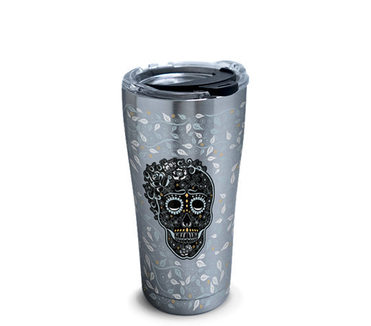 Fiesta® Skull and Vine 20 oz Stainless, Tervis Tumbler - Fiesta Factory Direct by Homer Laughlin China.  Dinnerware proudly made in the USA.