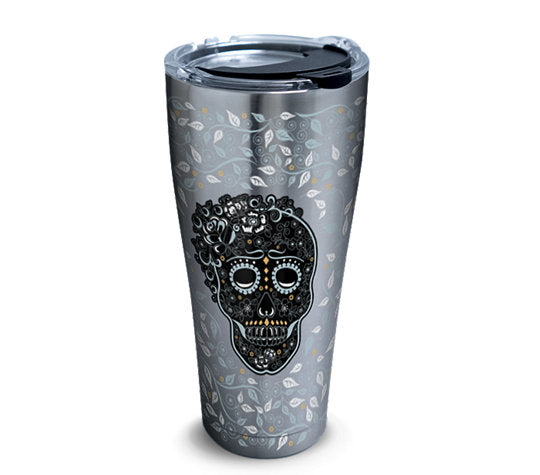 Fiesta® Skull and Vine 30 oz Stainless, Tervis Tumbler - Fiesta Factory Direct by Homer Laughlin China.  Dinnerware proudly made in the USA.