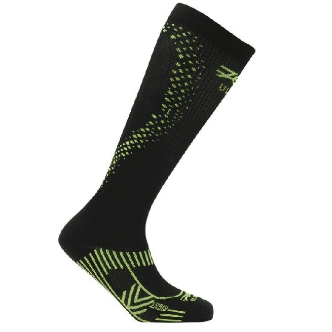 Zoot Sports COMPRESSION MENS ULTRA 2.0 CRX SOCK - BLACK SAFETY YELLOW
