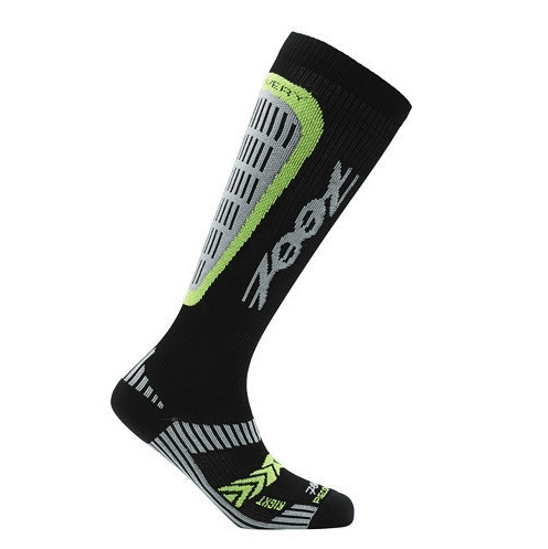 Zoot Sports COMPRESSION MENS ULTRA RECOVERY 2.0 CRX SOCK - BLACK SAFETY YELLOW