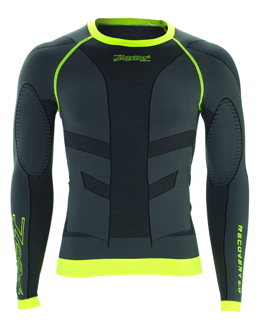 Zoot Sports COMPRESSION UNISEX ULTRA RECOVERY 2.0 CRX LS TOP - GRAPHITE SAFETY YELLOW
