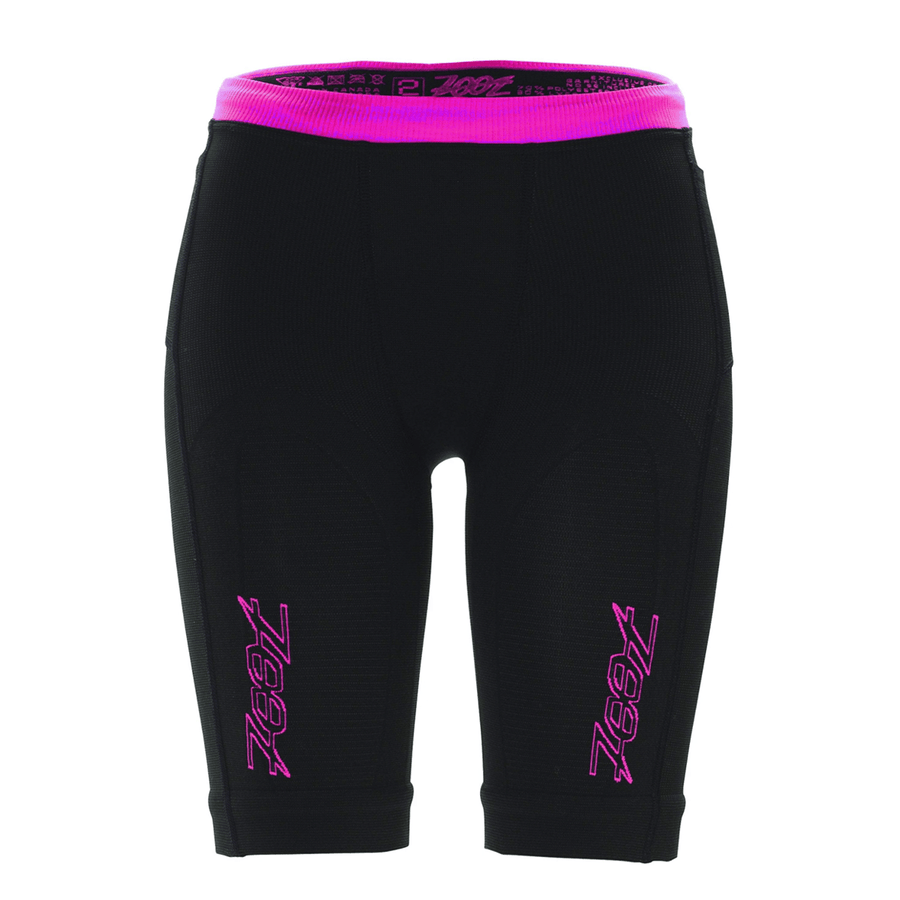 Zoot Sports COMPRESSION WOMENS ULTRA 2.0 CRX SHORT - BLACK PINK GLOW