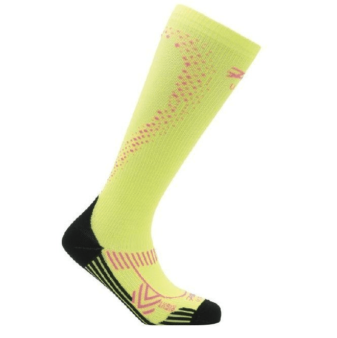 Zoot Sports COMPRESSION WOMENS ULTRA 2.0 CRX SOCK - SAFETY YELLOW PINK GLOW