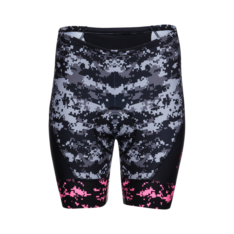 Zoot Sports CYCLE APPAREL X-SMALL / HIGH VIZ PINK WOMENS LTD CYCLE SHORT - CAMO