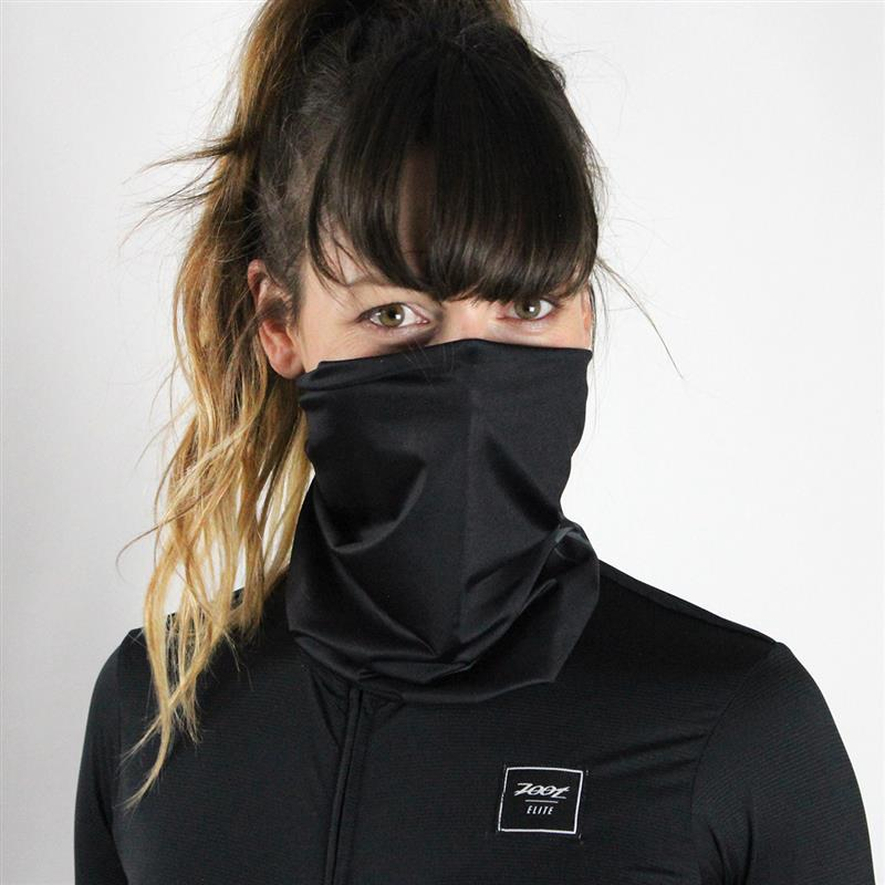 Zoot Sports FACE COVERINGS ONE SIZE FITS MOST / BLACK UNISEX COOLING NECK SLEEVE - BLACK