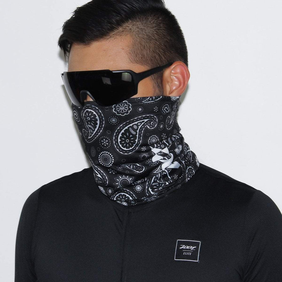 Zoot Sports FACE COVERINGS OSFA / BLACK BANDANA UNISEX COOLING NECK SLEEVE - BLACK BANDANA