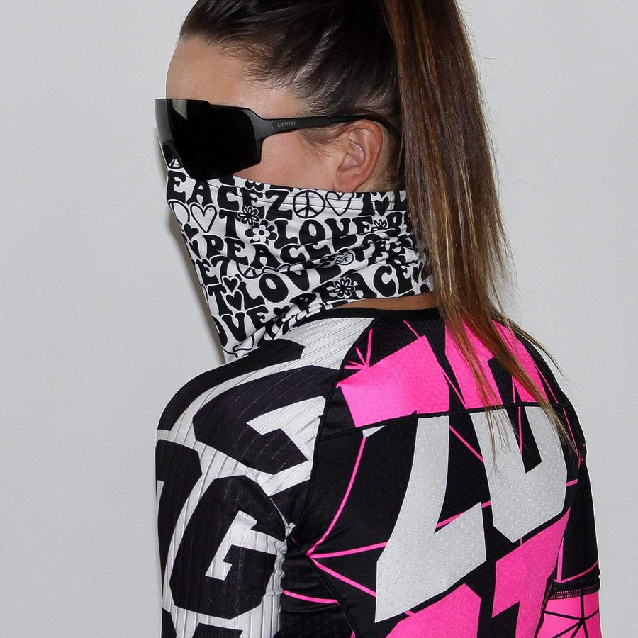 Zoot Sports FACE COVERINGS OSFA / PEACE&LOVE UNISEX COOLING NECK SLEEVE - PEACE & LOVE