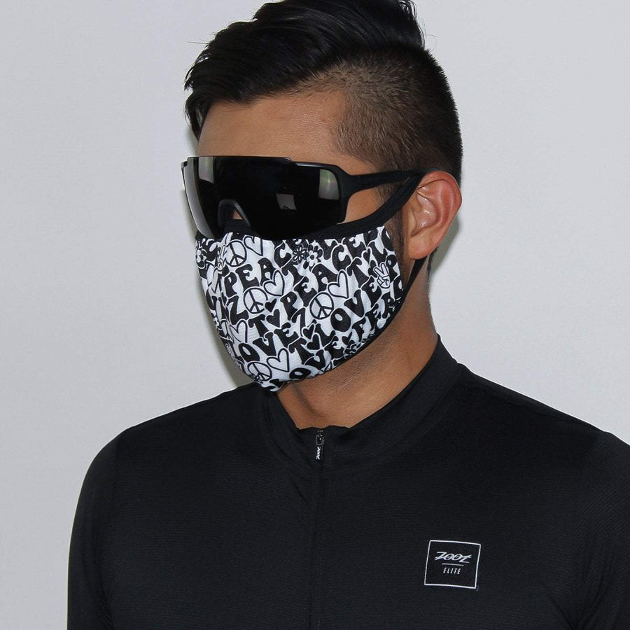 Zoot Sports FACE COVERINGS UNISEX FACE MASK - PEACE&LOVE