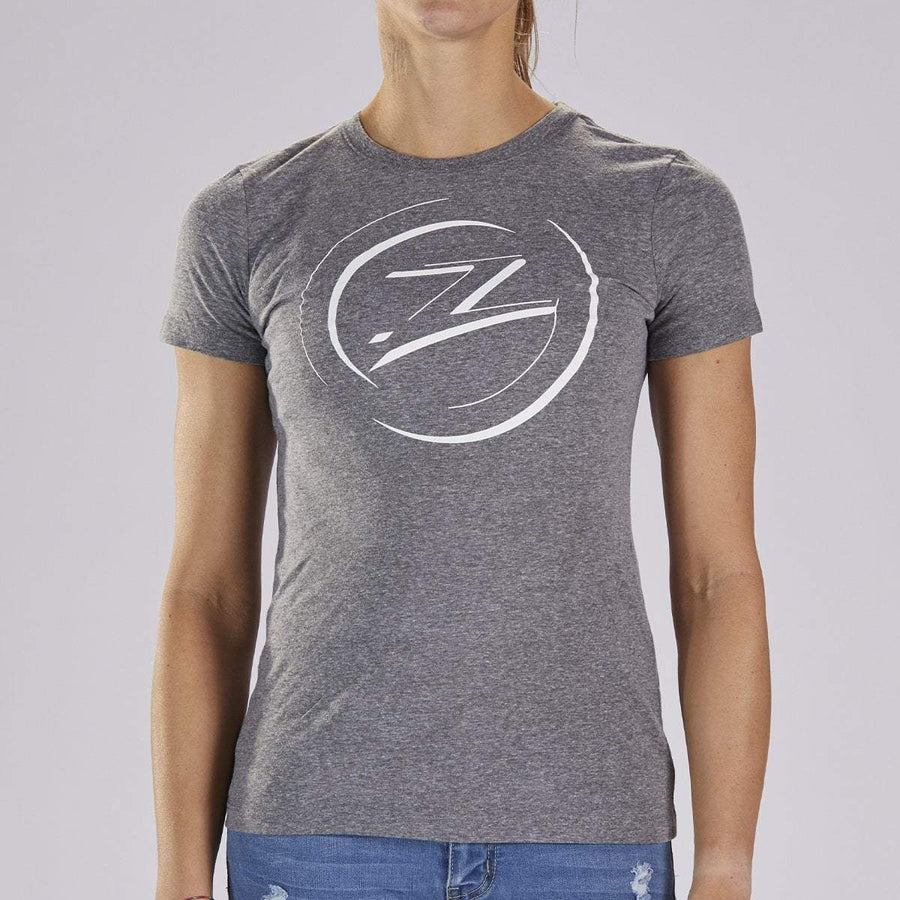 Zoot Sports LIFESTYLE WOMENS COTTON TEE - GREY HEATHER