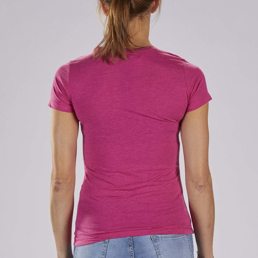 Zoot Sports LIFESTYLE WOMENS LIMITED EDITION COTTON TEE - BERRY