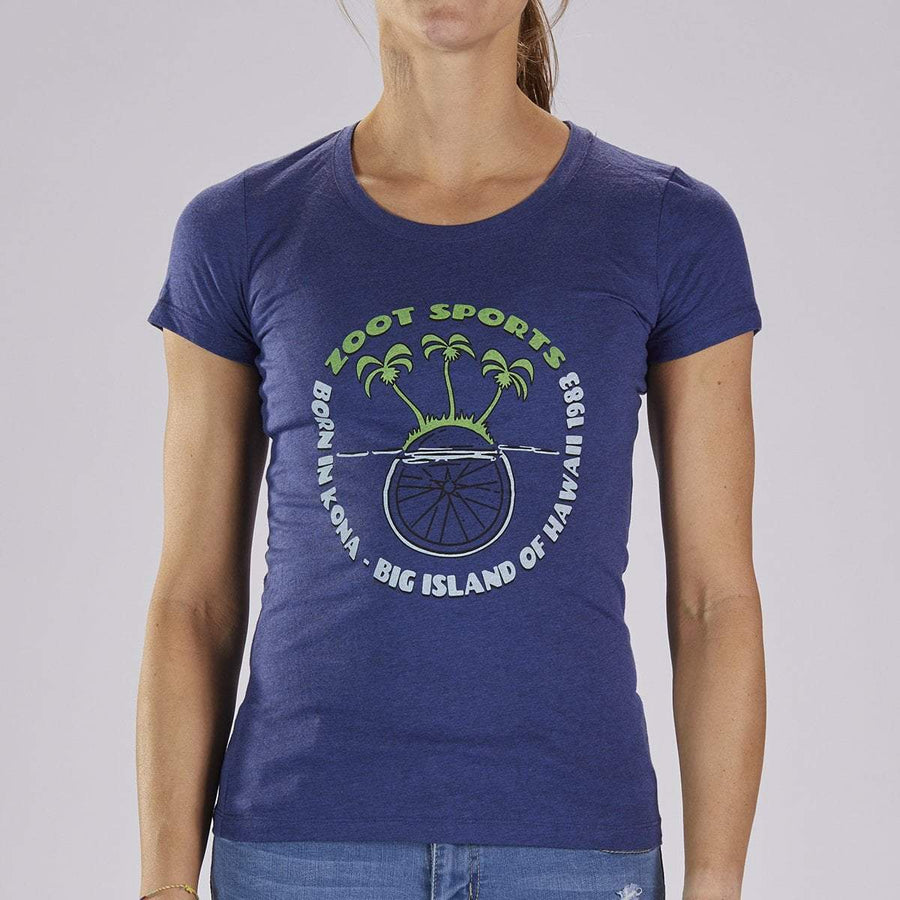 Zoot Sports LIFESTYLE WOMENS LIMITED EDITION COTTON TEE - NAVY HEATHER