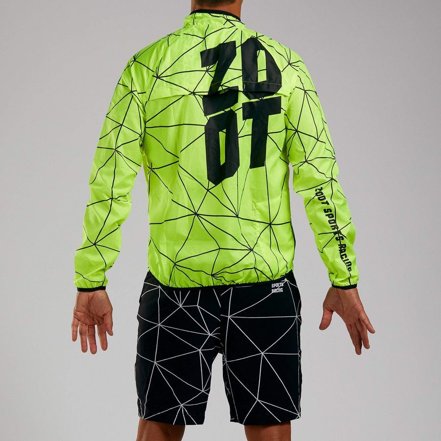 Zoot Sports RUN APPAREL MENS LTD RUN JACKET - NEON RACING
