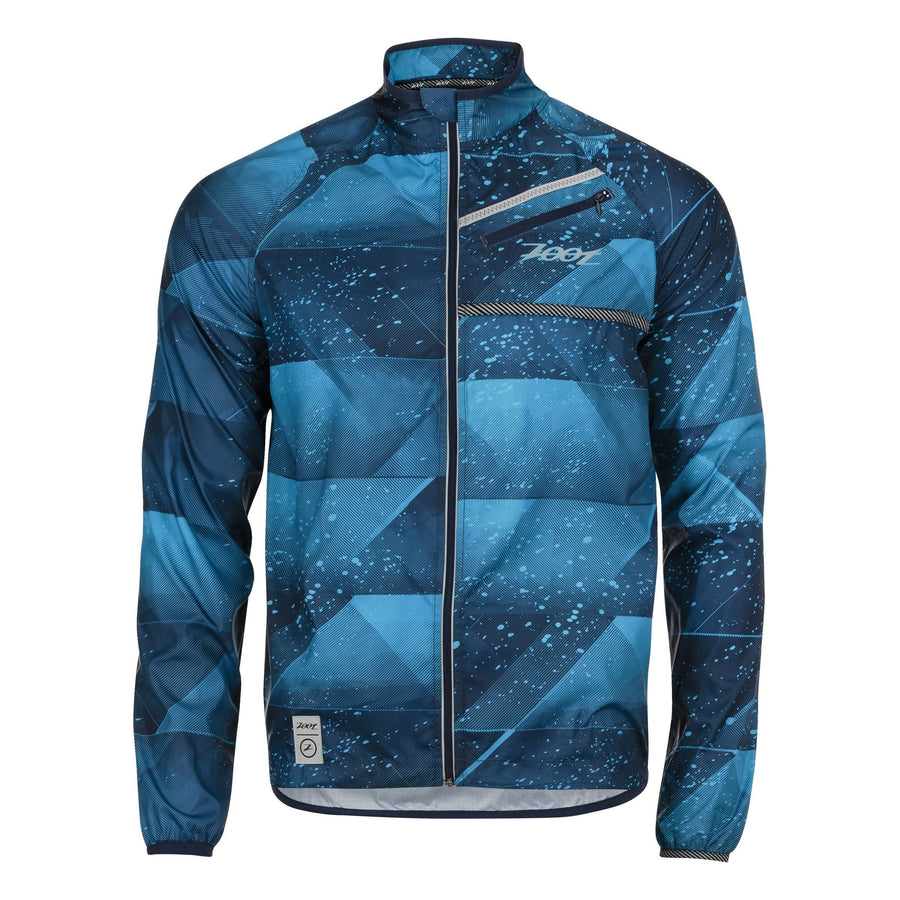 Zoot Sports RUN APPAREL SMALL / DECO MENS RUN WIND SWELL JACKET - DECO