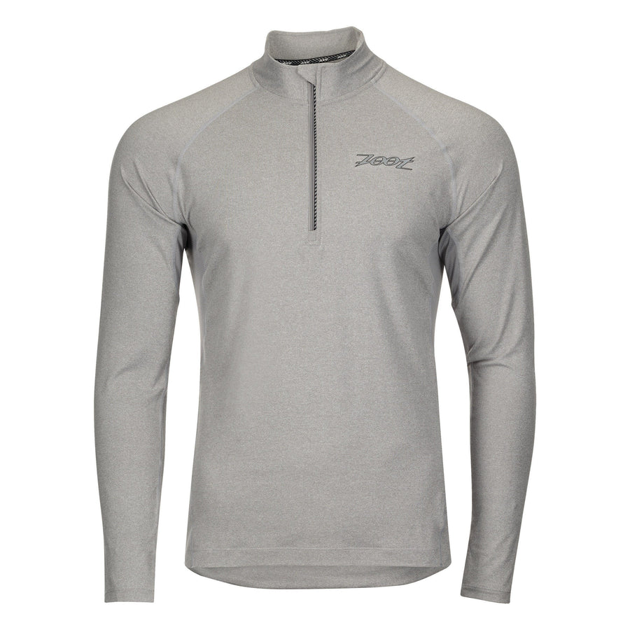 Zoot Sports RUN APPAREL SMALL / SHARKSKIN HEATHER MENS RUN OCEAN SIDE 1/2 ZIP - SHARKSKIN HEATHER