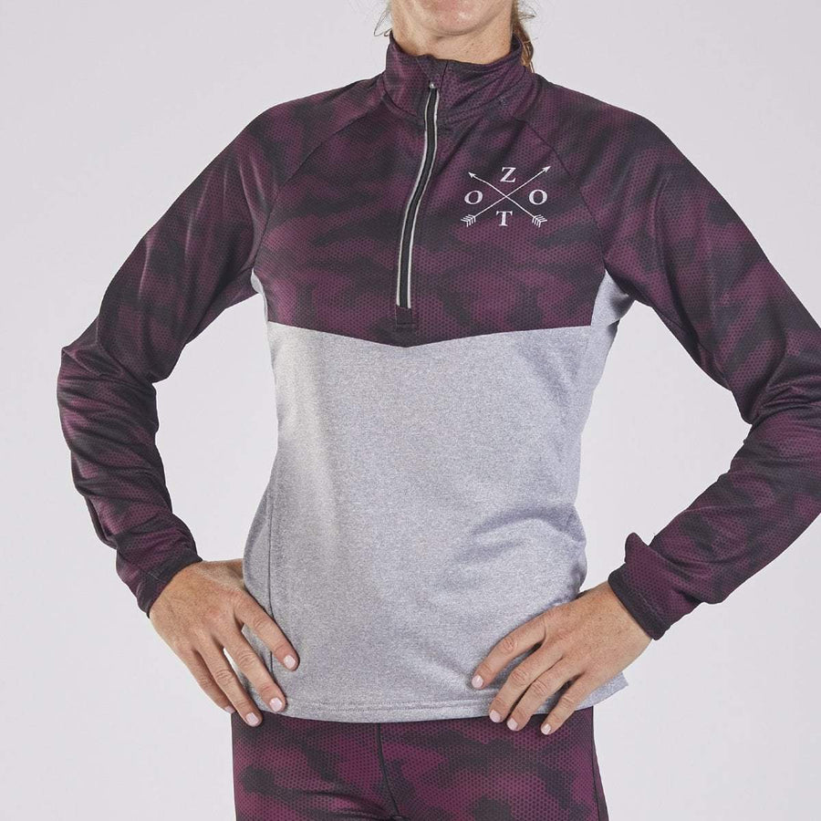 Zoot Sports RUN APPAREL WOMENS LTD HALF ZIP - CAMO 18
