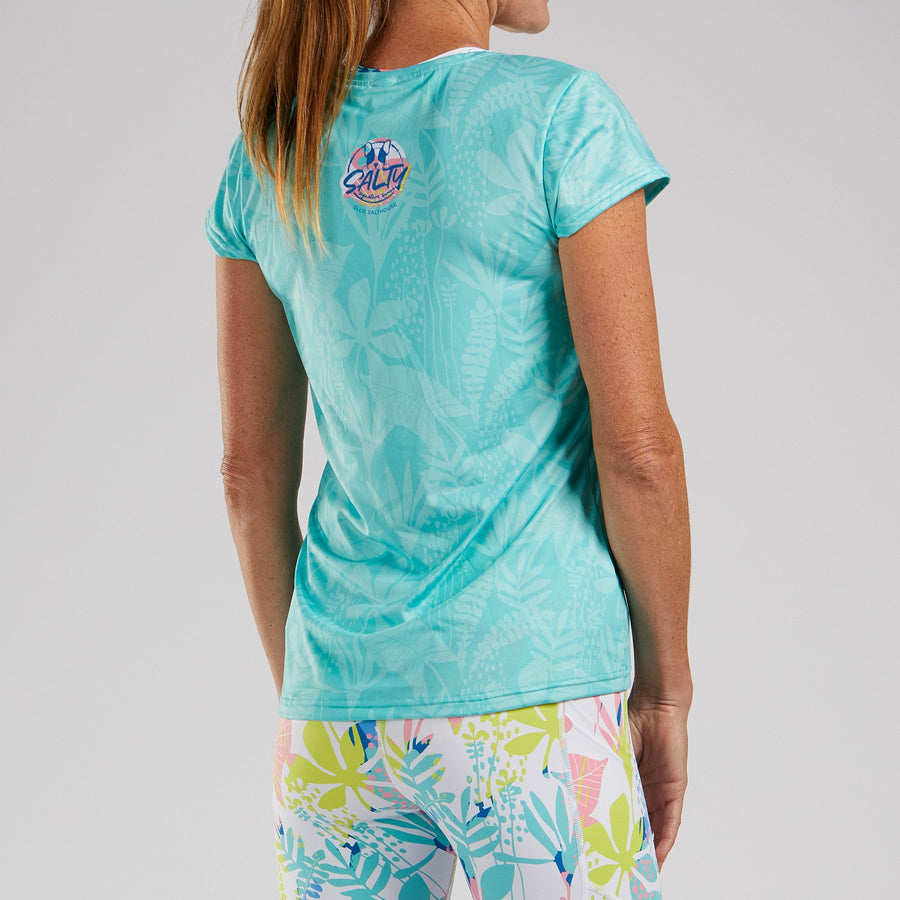 Zoot Sports RUN APPAREL WOMENS LTD RUN TEE - MINT SALTY