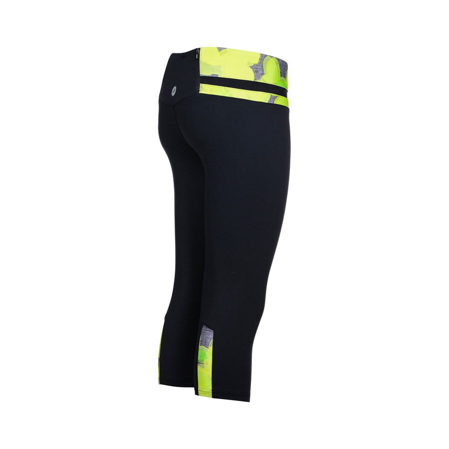 Zoot Sports RUN APPAREL X-SMALL / LEMON LIME WOMENS RUN MOONLIGHT KNICKER - LEMON LIME