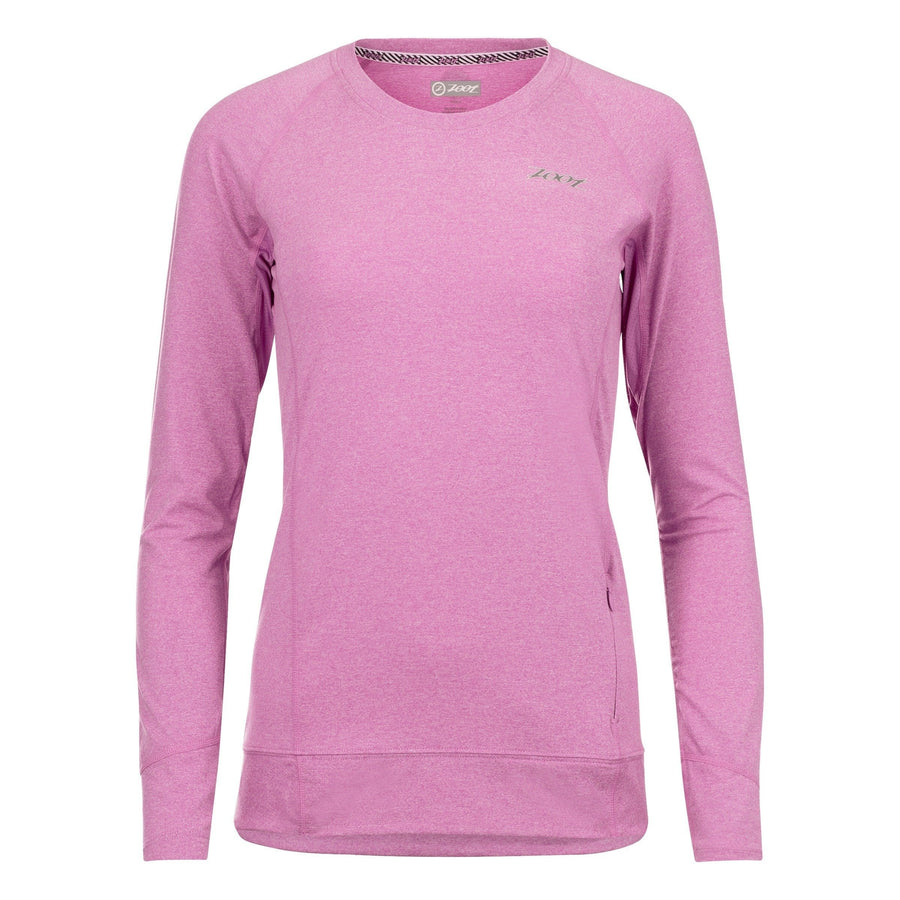 Zoot Sports RUN APPAREL X-SMALL / ORCHID HEATHER WOMENS RUN OCEAN SIDE LS - ORCHID HEATHER