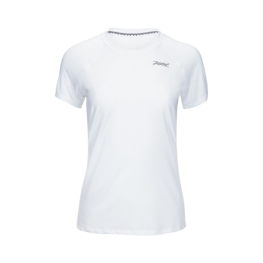 Zoot Sports RUN APPAREL X-SMALL / WHITE WOMENS RUN CHILL OUT TEE - WHITE