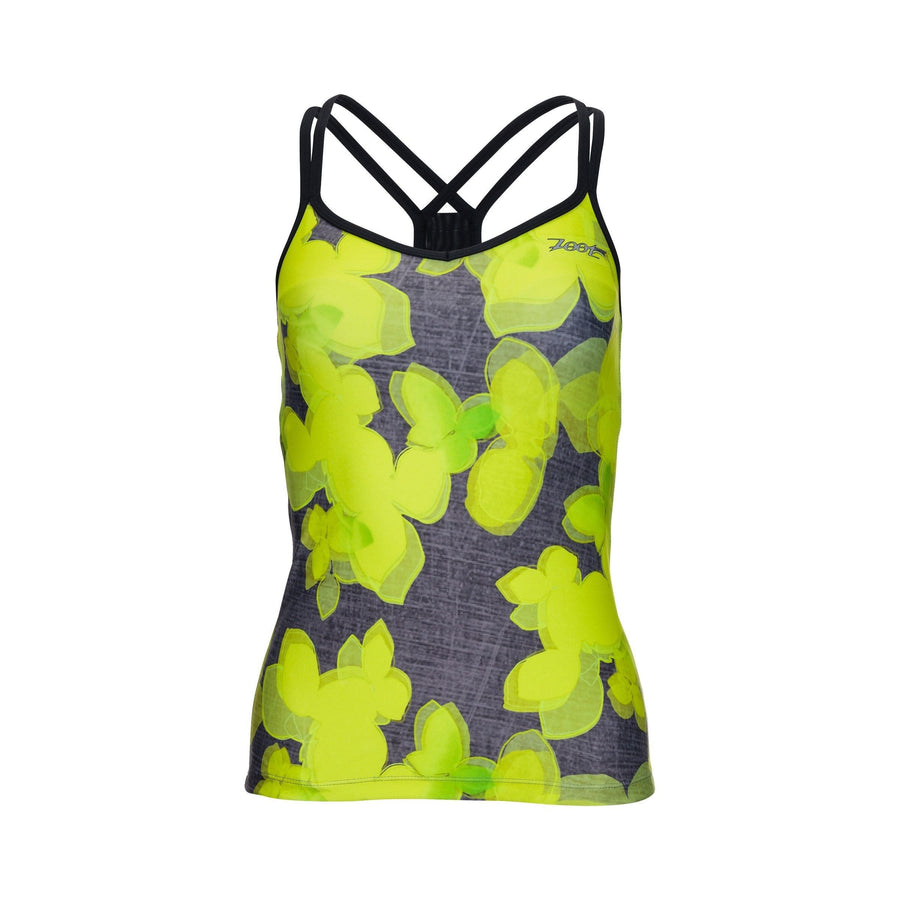 Zoot Sports RUN APPAREL XS-SMALL / LEMON LIME WOMENS RUN MOONLIGHT RACERBACK - LEMON LIME
