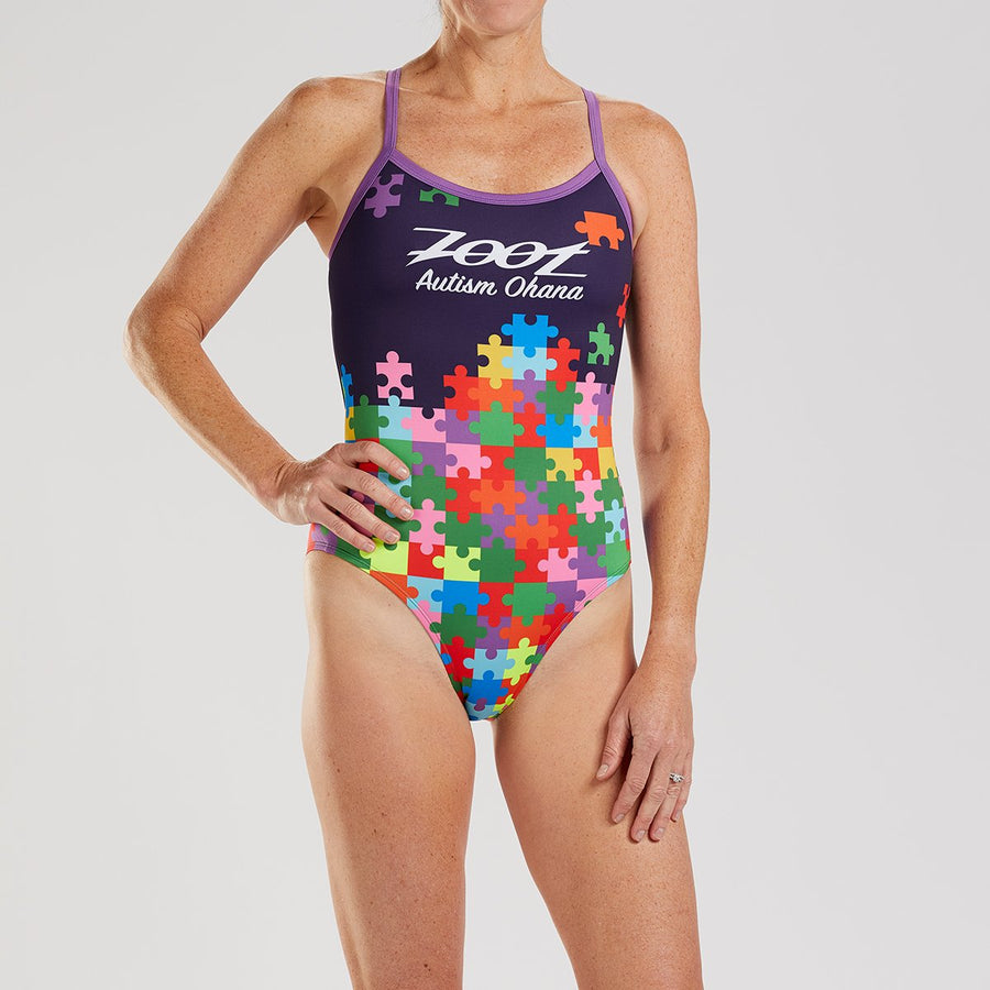 Zoot Sports SWIM WOMENS LTD SWIMSUIT - AUTISM OHANA