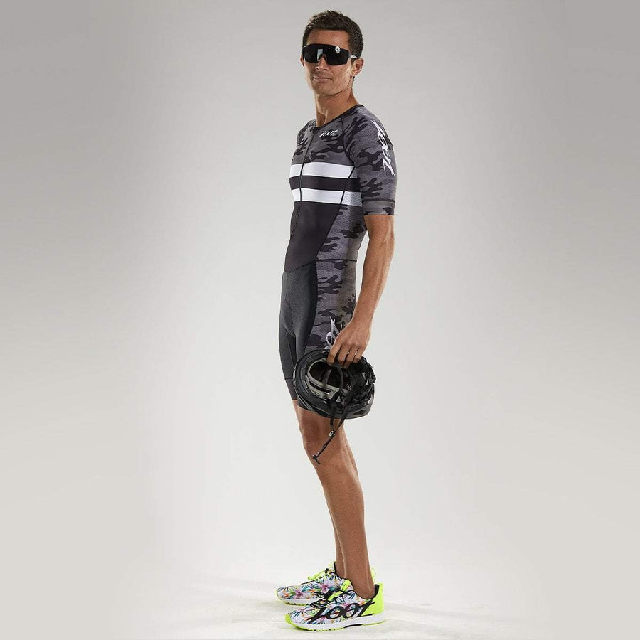 Zoot Sports TRI APPAREL MENS CARBON CAMO TRI SS AERO RACESUIT