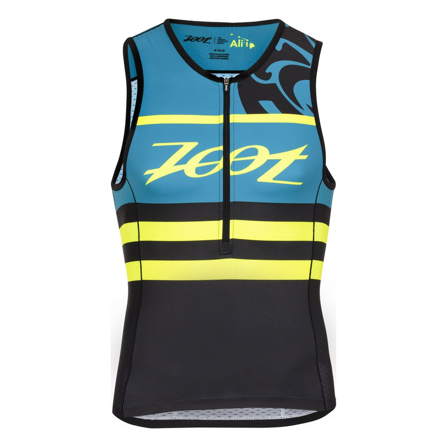Zoot Sports TRI APPAREL SMALL / BLUE HONU MENS LTD TRI TANK - ALI'I