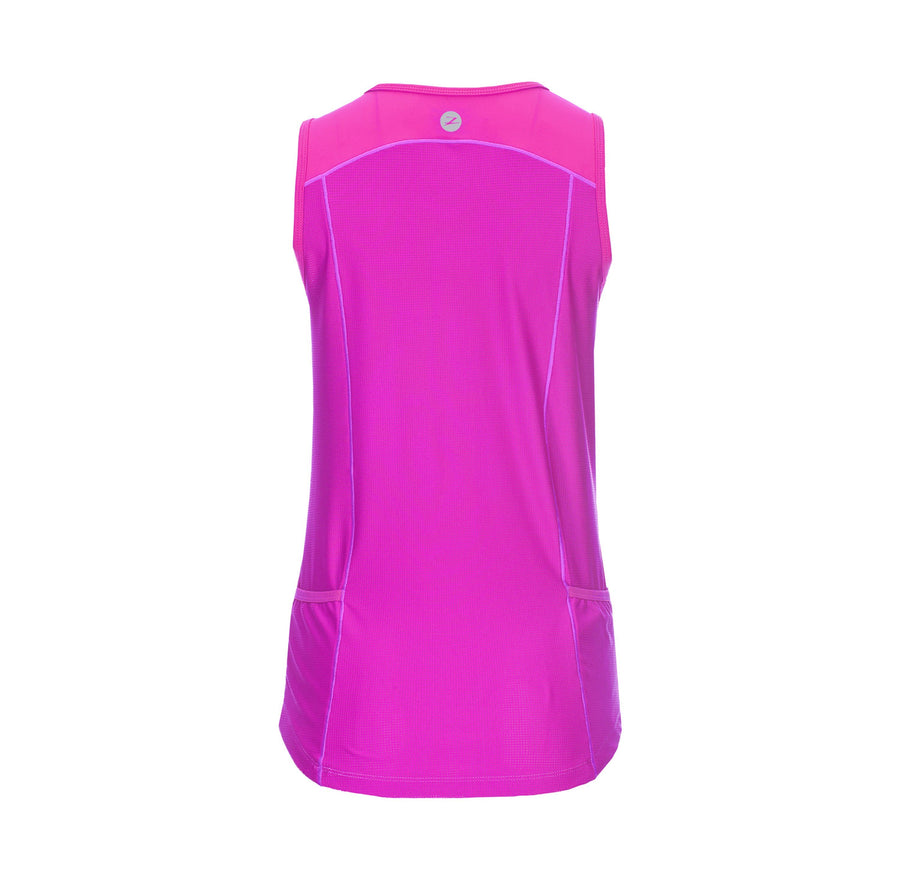 zootsports TRI APPAREL WOMENS ACTIVE TRI MESH TANK - PASSION FRUIT