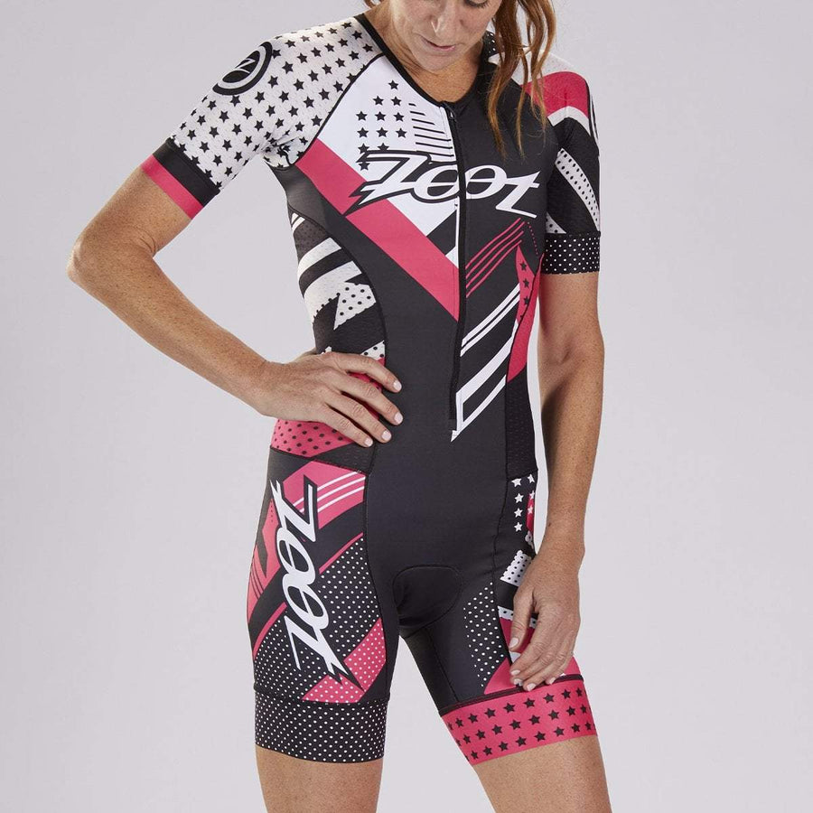 zootsports TRI APPAREL WOMENS LTD TRI SS AERO RACESUIT - TEAM 19