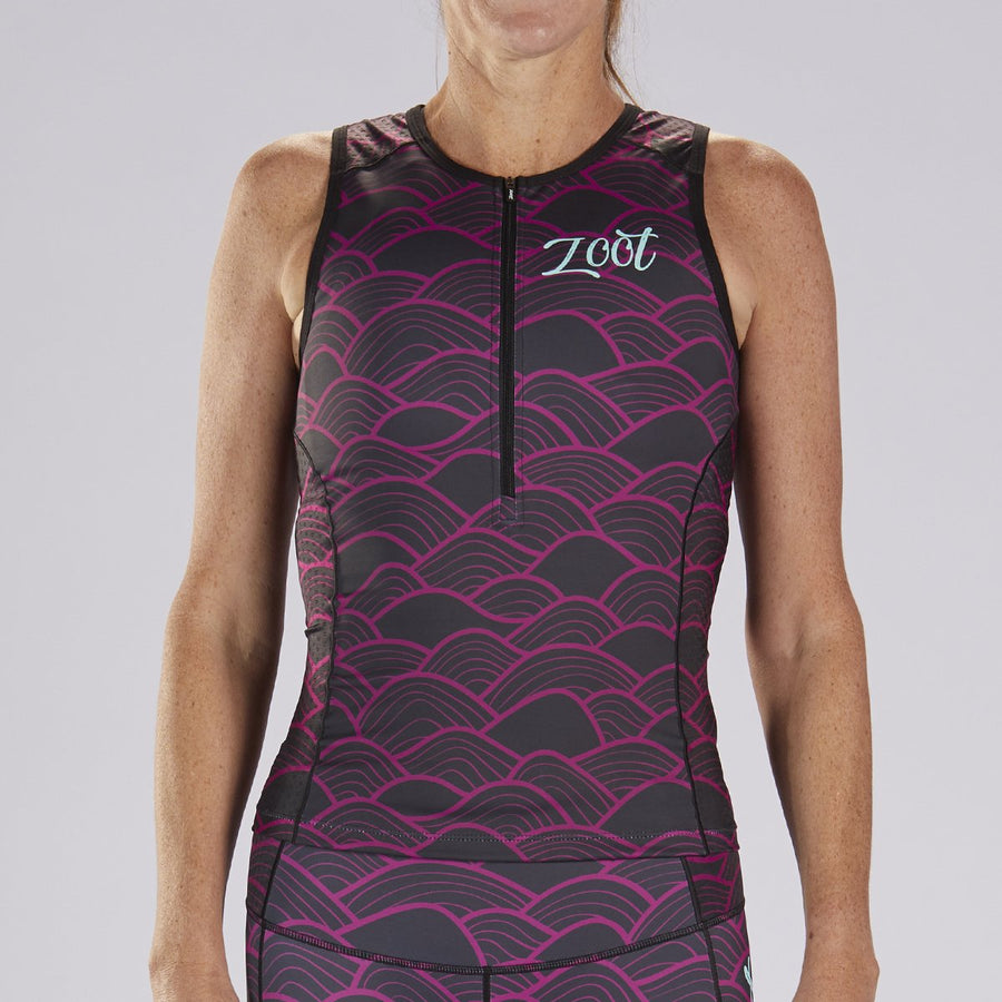zootsports TRI APPAREL WOMENS LTD TRI TANK - ALOHA 19