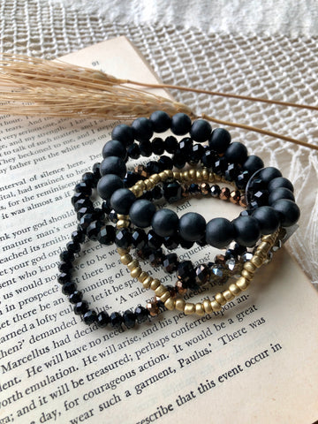 Boho Babe Bracelets-Black Mix