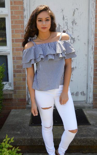 Check Her Out Gingham Top