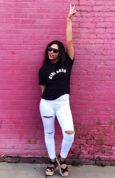 """Girl Gang"" With Love Juliet Logo Tee"