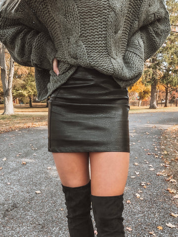 Sammie Leather Skirt