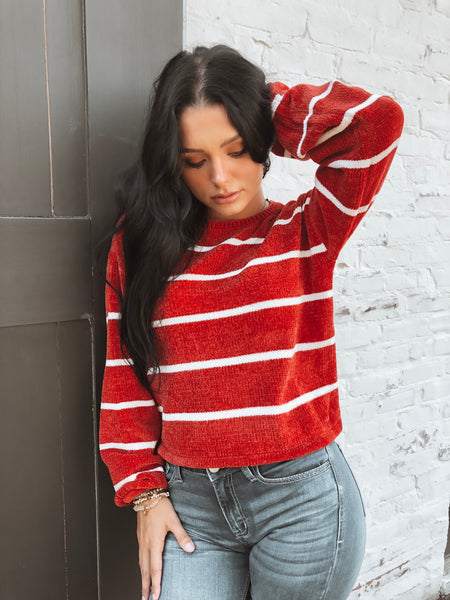 Any Day Now Sweater-Red