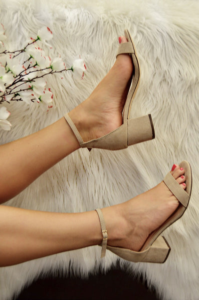 Uptown Ankle Strap Heels
