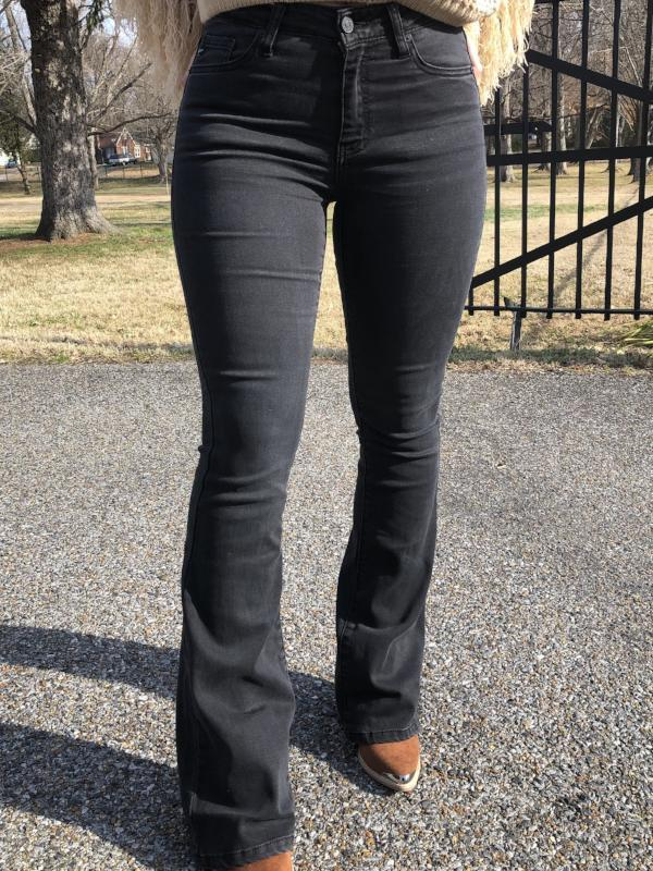 Kan Can Madden Black Flare Jeans