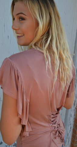 Avery Lace Up Top