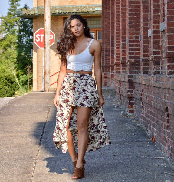 Love Grows Floral Skirt