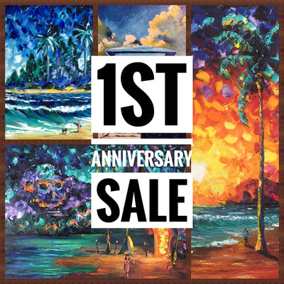 Friday Night Tiki Adventure Live Painting & 1st Anniversary Sale!!