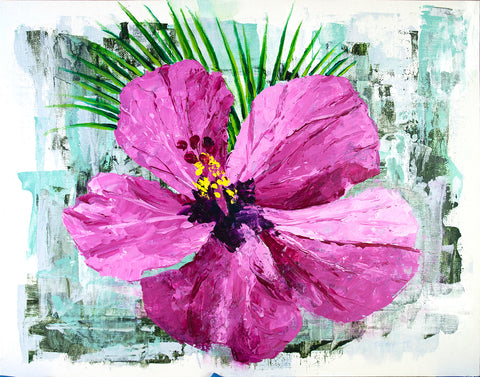 Tropical Hibiscus Flower Wall Art by Nelson