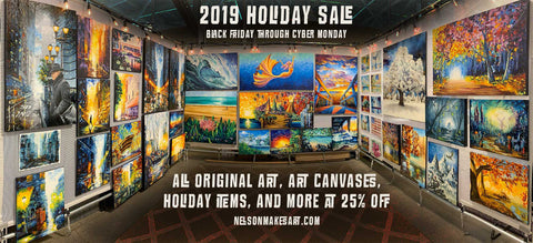 Wall Art Black Friday Sale by Nelson Makes Art