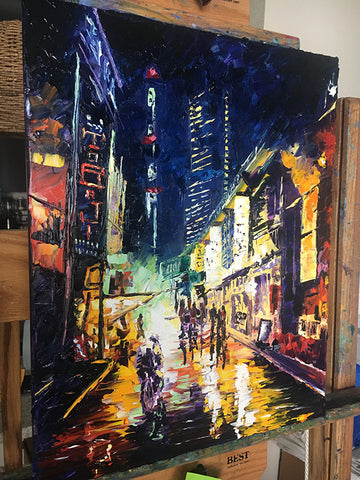 Finished Chinatown Artwork Painting by Nelson