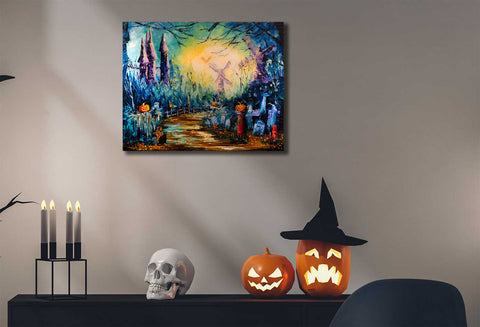 Halloween artwork hand painted by Nelson