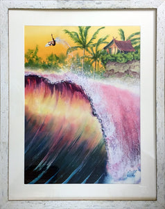 Airtime Framed Surfer Beach Wall Art-nelsonmakesart