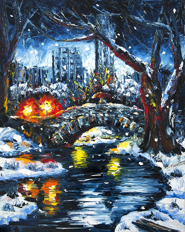 Gaptstow Bridge Original Art | nelsonmakesart